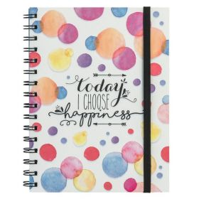 Today I Choose Happiness: Spiral A5 Notebook