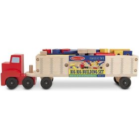 Melissa & Doug: Big Rig Building Truck Wooden Play Set