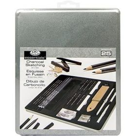 Royal & Langnickel: Standard Tin Charcoal Drawing Art Set