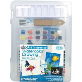 Royal & Langnickel: Watercolor Pencil Drawing Clearview Art Set - 30 pc
