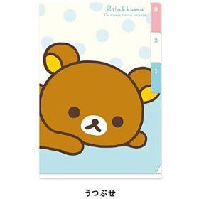 San-X: A6 Mini Index Folder, Rilakkuma (White, Blue)