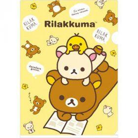 San-X: A4 Folder, Rilakkuma, Korilakkuma & Kiiroitori (Yellow)