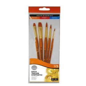 Daler-Rowney: Simply Gold Taklon Synthetic Brush -  Set of 5