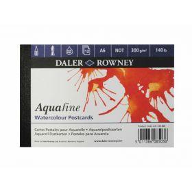 Daler-Rowney: Aquafine A6 Postcard Pad, 12 sheets