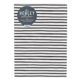 WHSmith: A5 Henley Flexi Ruled Notebook - Monochrome Stripe