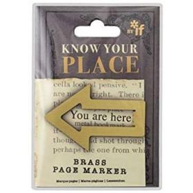 If: Know Your Place - Brass Page Marker