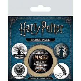 Pyramid: Harry Potter Symbols Badge Pack (Multi-Color)