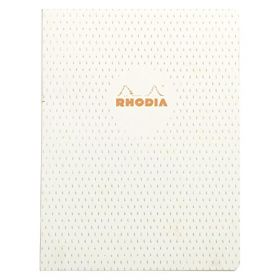 Rhodia Heritage Raw Bound A5 Lined Notebook (Moucheture Ivory)