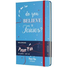 Limited Edition: Peter Pan Large Ruled Notebook - Fairies Cerulean Blue (Hardcover)