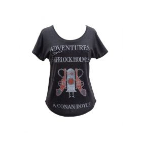 Out of Print: Adventures of Sherlock Holmes Women's Relaxed Fit T-Shirt (X-Large)