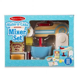Melissa & Doug: Wooden Make-A-Cake Mixer Set