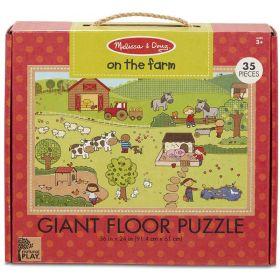 Melissa & Doug: Natural Play Floor Puzzle - On the Farm