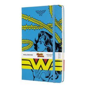 Moleskine Limited Edition: Wonder Woman Large Ruled Notebook - Blue (Hardcover)