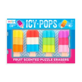 Ooly: Icy Pops Scented Erasers - Set of 4