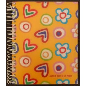 Miquelruis: A6 Spiral Notebook (Agatha Ruiz, Yellow Tuttif)