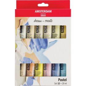 Amsterdam: Standard Series Acrylics Pastel Set, 12 × 20 ml
