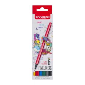 Royal Talens: Bruynzeel Fineliners - Basic Colours (Pack of 6)