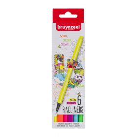 Royal Talens: Bruynzeel Fineliners- Neon Colours (Pack of 6)