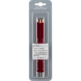 CretacoloR: Fine Art Graphite Black Lead Pencil HB = 2H + 4H 3pcs. on Blister Card