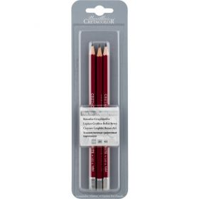 CretacoloR: Fine Art Graphite Pencils HB + 2B + 4B 3-Piece Blister Cards