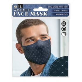 Dark Diamond Print: ONS Washable Face Mask (Large)