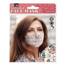 Botanical Floral on Cream: ONS Washable Face Mask (Medium)