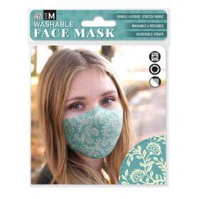 Vintage Floral on Teal: ONS Washable Face Mask (Medium)