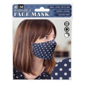 White Spot on Blue: ONS Washable Face Mask (Medium)