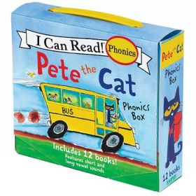 Pete the Cat 12-Book Phonics Box (Paperback)