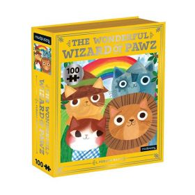 Mudpuppy: The Wonderful Wizard of Pawz Bookish Cats 100 Piece (Puzzle)