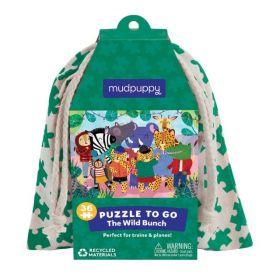 Mudpuppy: Puzzle to Go - The Wild Bunch