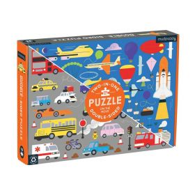 Mudpuppy: On the Move 100 Piece Double-Sided Puzzle