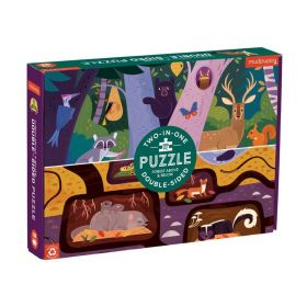 Mudpuppy: Forest Above & Below 100 Piece Double-Sided Puzzle