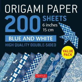 "Origami Paper 200 sheets 6"": Blue and White Patterns (Loose Leaf)"