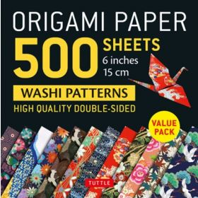 "Origami Paper 500 sheets 6"":  Japanese Washi Patterns (Loose Leaf)"