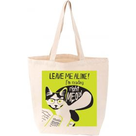Lovelit: I'm Reading Right, Meow Tote bag