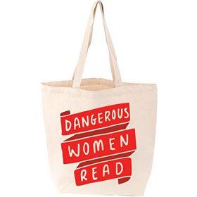 Gibbs Smith: Dangerous Women Read Tote Bag