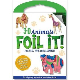 Punch-Out 3-D Animals Foil It! Activity Kit (Hardcover)