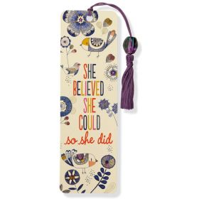 Peter Pauper: Beaded Bookmark She Believed She Could