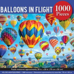 Balloons in Flight: 1000 Piece Jigsaw Puzzle