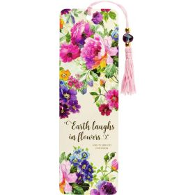 Peter Pauper: Beaded Bookmark Peony Garden