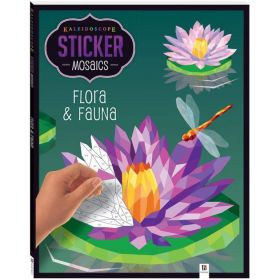 Kaleidoscope Sticker Mosaics: Flora & Fauna (Paperback)