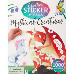 Creative Sticker Mosaics: Mythical Creatures (Paperback)