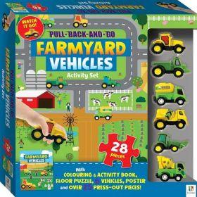 Pull Back and Go: Farmyard Vehicles (Mixed Media Product)