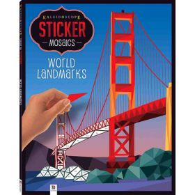 Kaleidoscope Sticker Mosaics: World Landmarks (Paperback)