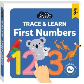 Junior Explorers: Trace & Learn First Numbers (Board Book)