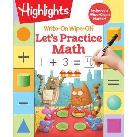 Write-On Wipe-Off Let's Practice Math (Spiral Bound)