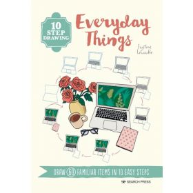 10 Step Drawing: Everyday Things, Draw 60 Familiar Items in 10 Easy Steps (Paperback)