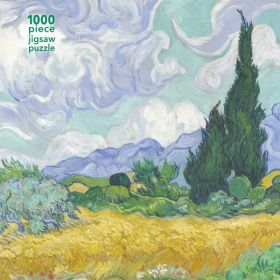 Flame Tree: Vincent van Gogh Wheatfield with Cypress, 1000 Pieces (Jigsaw Puzzle)