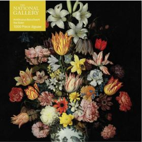 National Gallery Bosschaert the Elder, A Still Life of Flowers: 1000-piece Jigsaw Puzzles